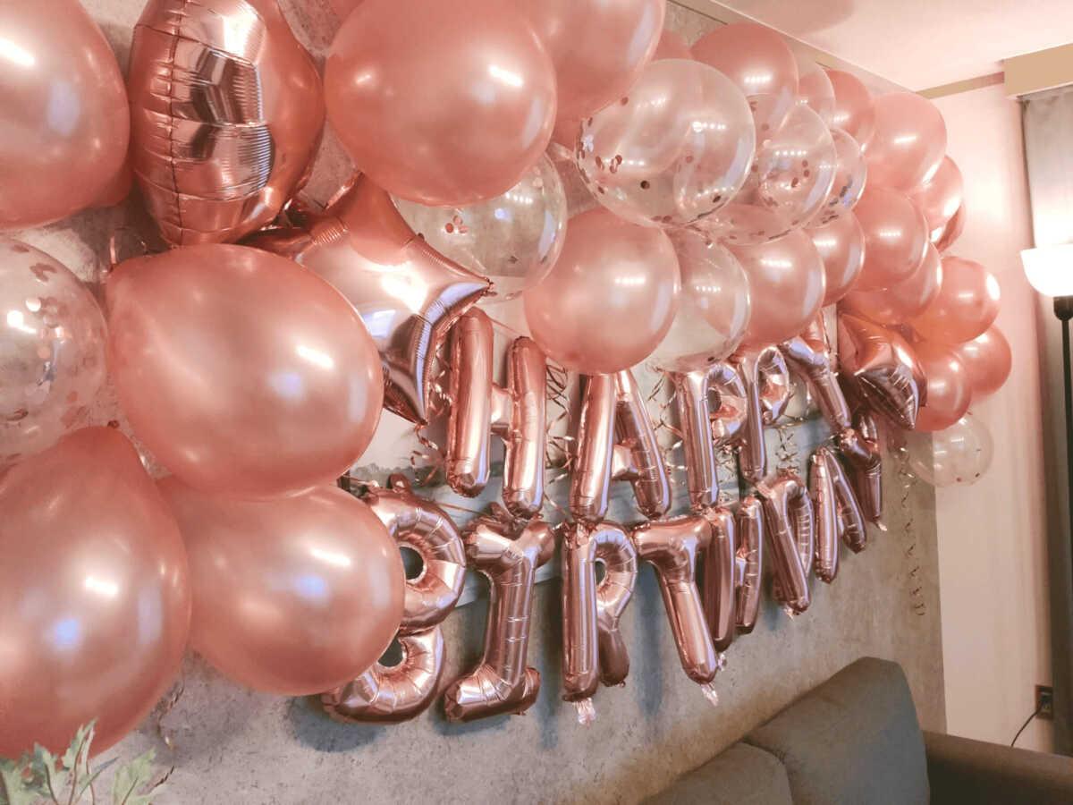 誕生日サプライズ装飾例